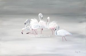 Artwork -Flamingo Ballet - Tracey Mae